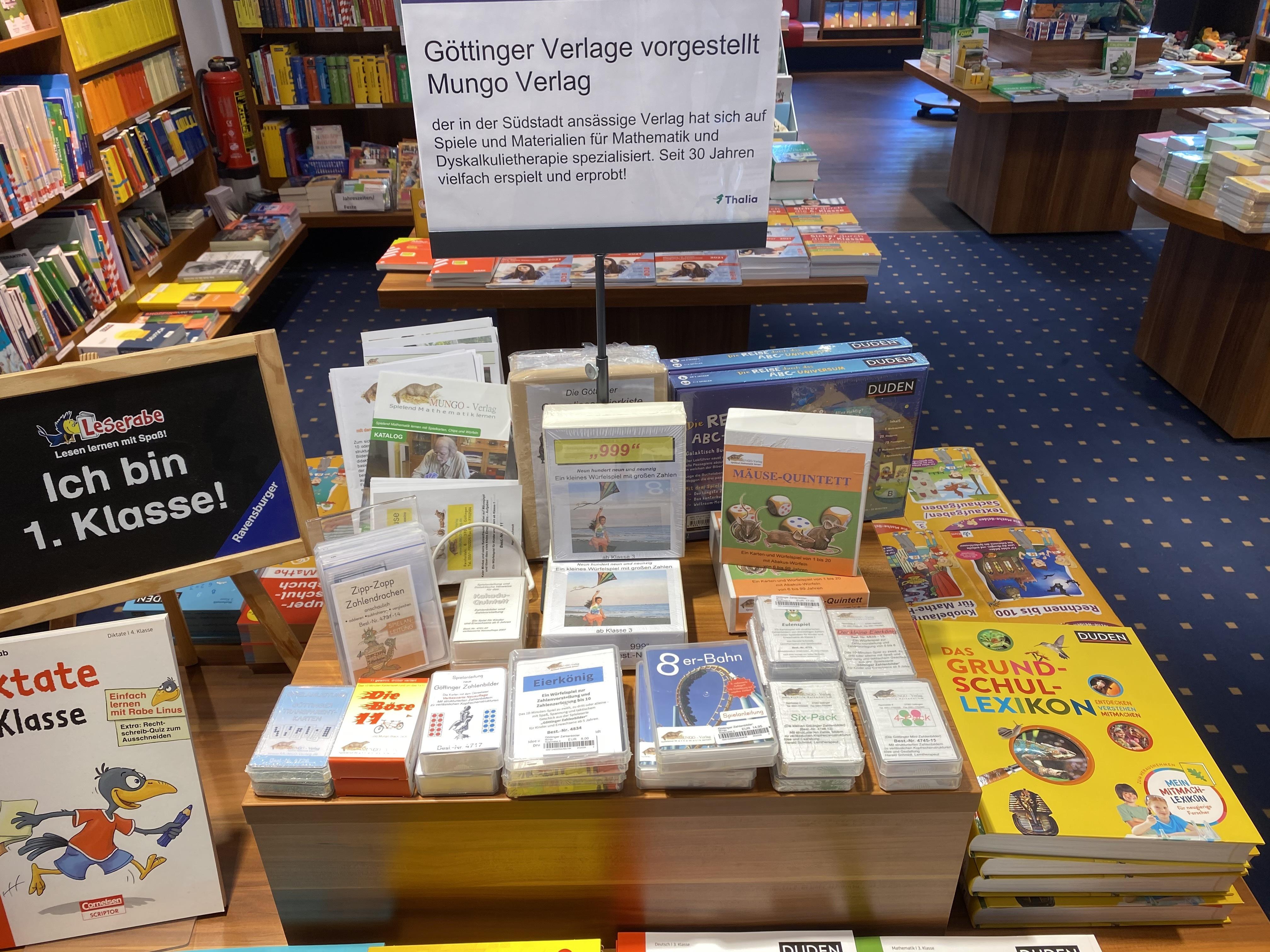 Bild Der Mungo Verlag in der Göttinger Thaliafiliale